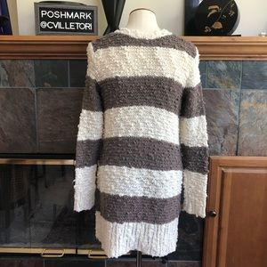 Free People Sweaters - Free People Long Thick Cardigan Striped Button XS